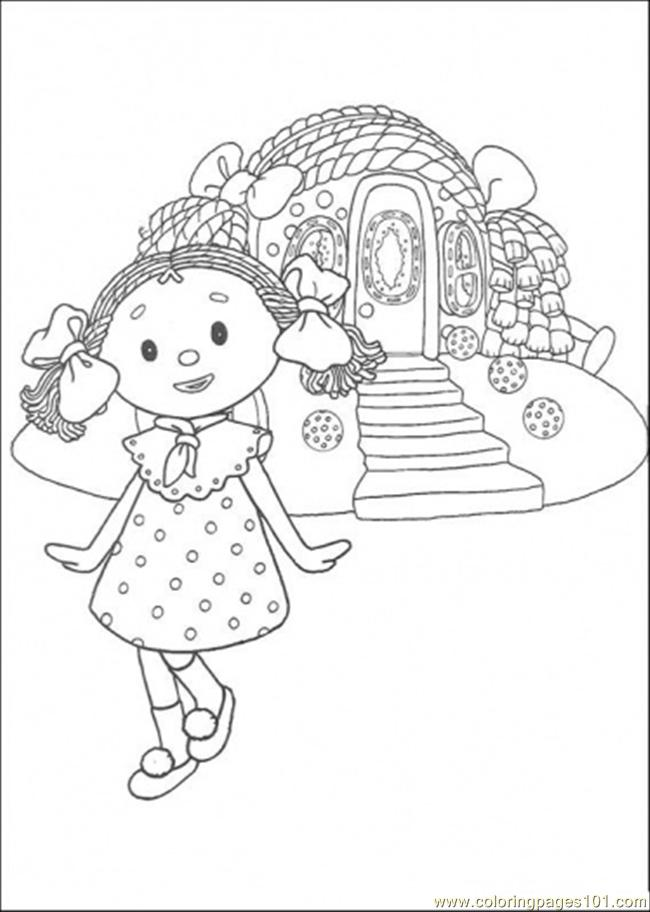 That Girl Is Standing In Front Of The House Coloring Page