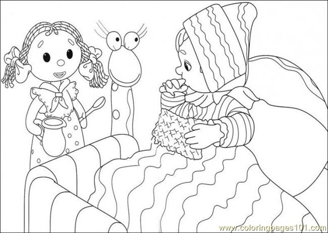 That Girl Try To Give Some Medicine Coloring Page