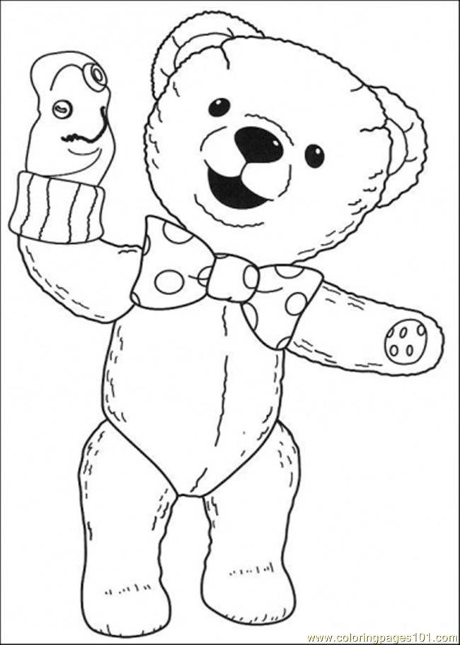 The Bear Is Playing Coloring Page