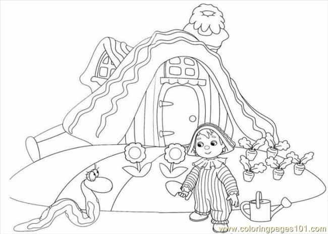 The Child Is Watering Her Garden Coloring Page