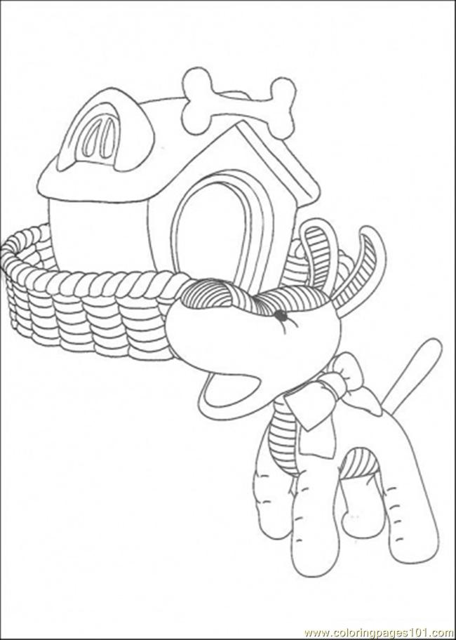 The Dog In Front Of Its House Coloring Page