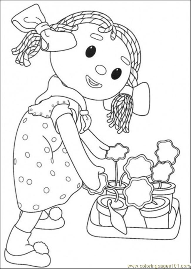 The Girl Is Keeping Her Plant Coloring Page