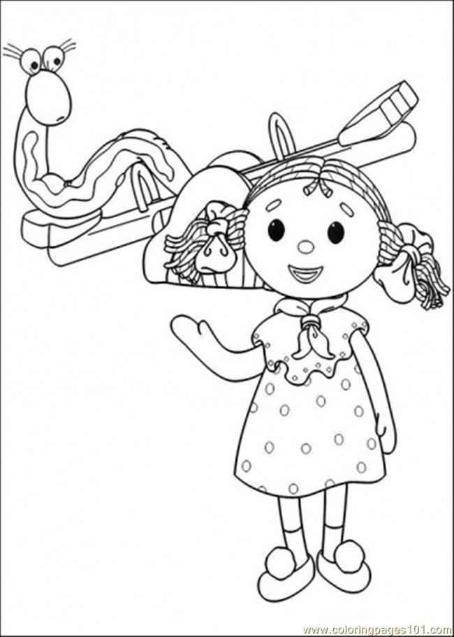 This Girl And That Snake Are Playing Together Coloring Page