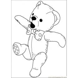 Bear Sings A Song Free Coloring Page for Kids