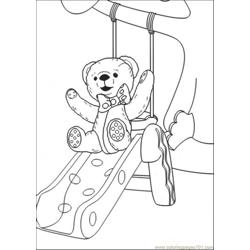 The Bear Is Playing In Play Ground