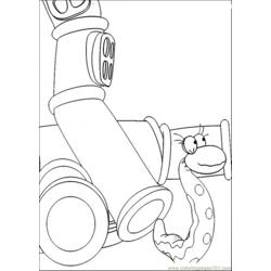 The Snake Is Playing With The Pipe Free Coloring Page for Kids