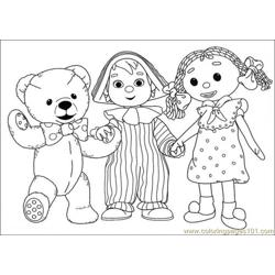 They Are Holding Hand Together Free Coloring Page for Kids