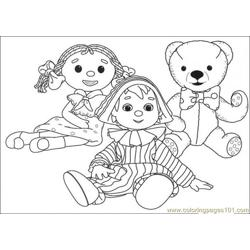They Are Sitting Together Free Coloring Page for Kids
