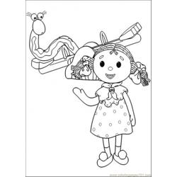 This Girl And That Snake Are Playing Together Free Coloring Page for Kids