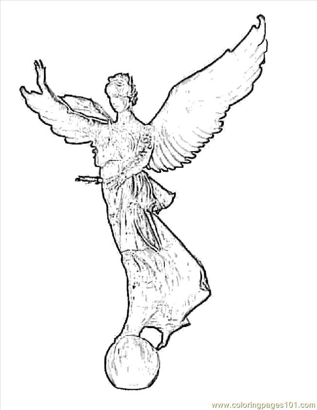 Bible Angel Coloring Page