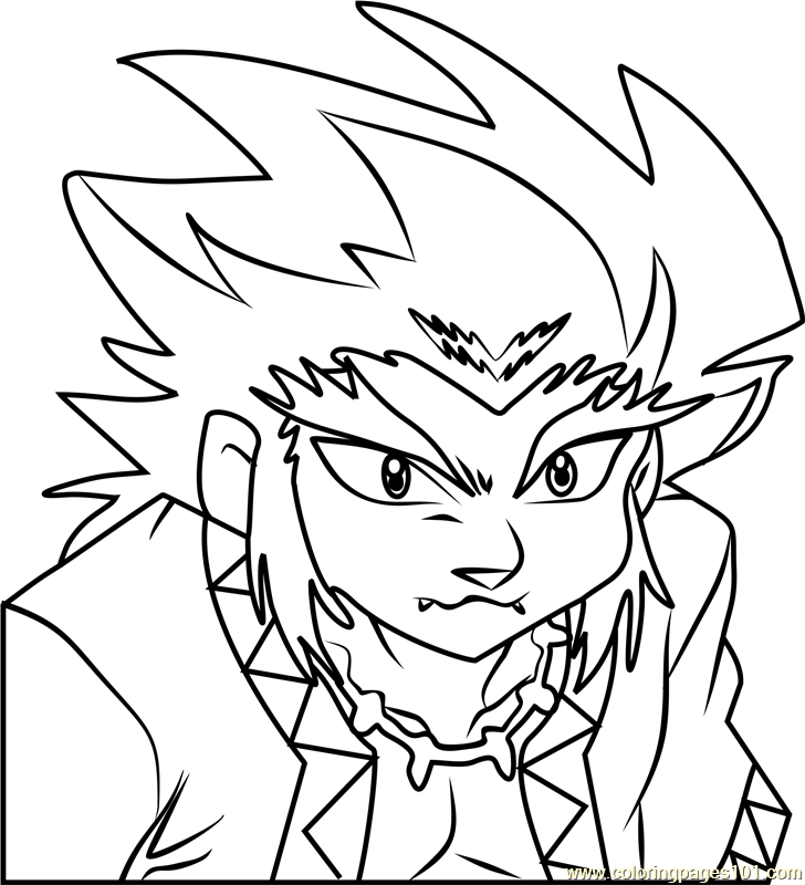 Lee Beyblade Coloring Page - Free Beyblade Coloring Pages ...