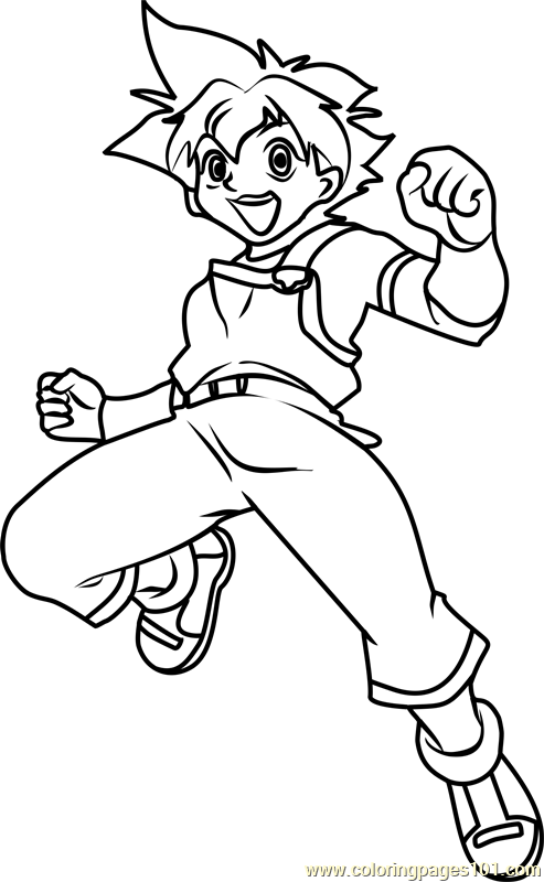 max tate beyblade coloring page - Beyblade Coloring Pages