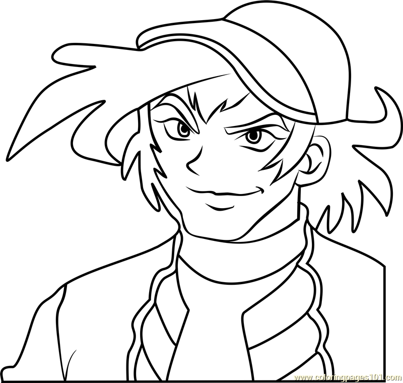 Michael Summers Beyblade Coloring Page