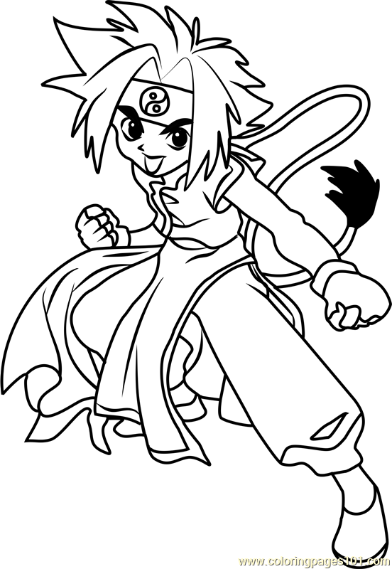 Ray Kon Beyblade Coloring Page - Free Beyblade Coloring Pages ...