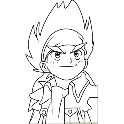 Johnny McGregor Beyblade Free Coloring Page for Kids
