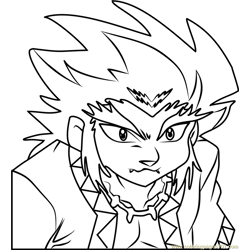 Lee Beyblade Free Coloring Page for Kids