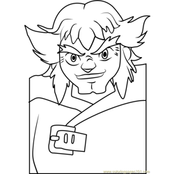 Lupinex Beyblade Free Coloring Page for Kids