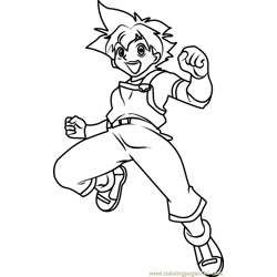 Max Tate Beyblade Free Coloring Page for Kids