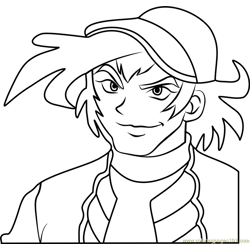 Michael Summers Beyblade Free Coloring Page for Kids