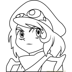 Oliver Beyblade Free Coloring Page for Kids