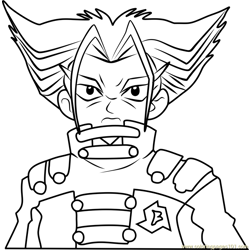 Spencer Beyblade Coloring Page