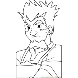 Taro Tate Beyblade Free Coloring Page for Kids