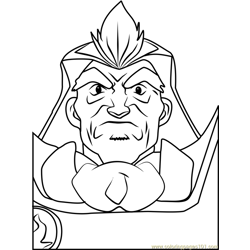 Voltaire Hiwatari Beyblade Free Coloring Page for Kids