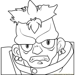 Zomb Beyblade Free Coloring Page for Kids