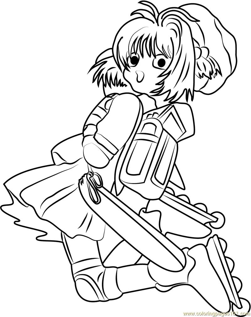Cardcaptor sakura by kumiko takahashi coloring page free for Cardcaptor sakura coloring pages