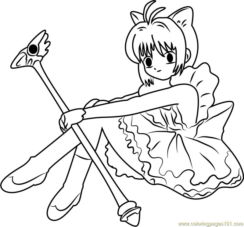 Sakura printable coloring pages for Cardcaptor sakura coloring pages