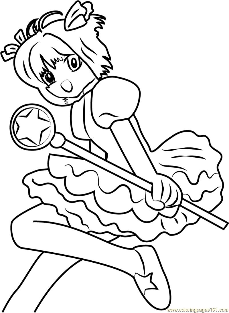 Coloring Pages Cardcaptor Sakura Coloring Pages jumping cardcaptor sakura coloring page free page