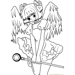 Cardcaptor Sakura Shy Free Coloring Page for Kids