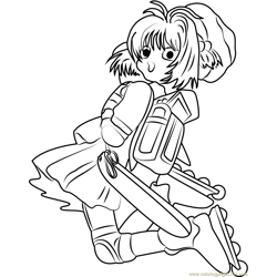 Cardcaptor Sakura by Kumiko Takahashi Free Coloring Page for Kids