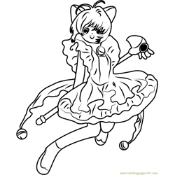 Cute Cardcaptors Sakura Free Coloring Page for Kids