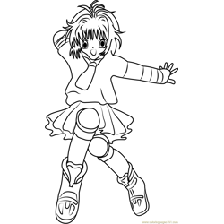 Dancing Cardcaptor Sakura Free Coloring Page for Kids