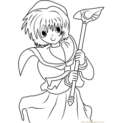 Nice Cardcaptor Sakura Free Coloring Page for Kids