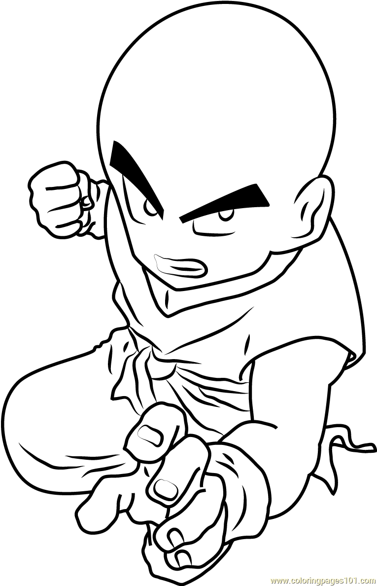 Dragon Ball Z Kid Goku Coloring Page Free Dragon Ball Z
