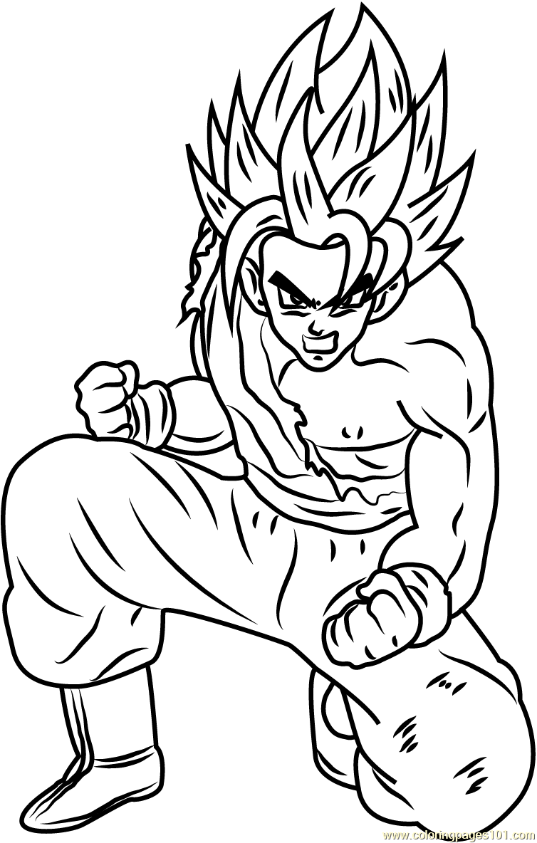Kid vegeta free coloring pages for Dragon ball z goku coloring pages
