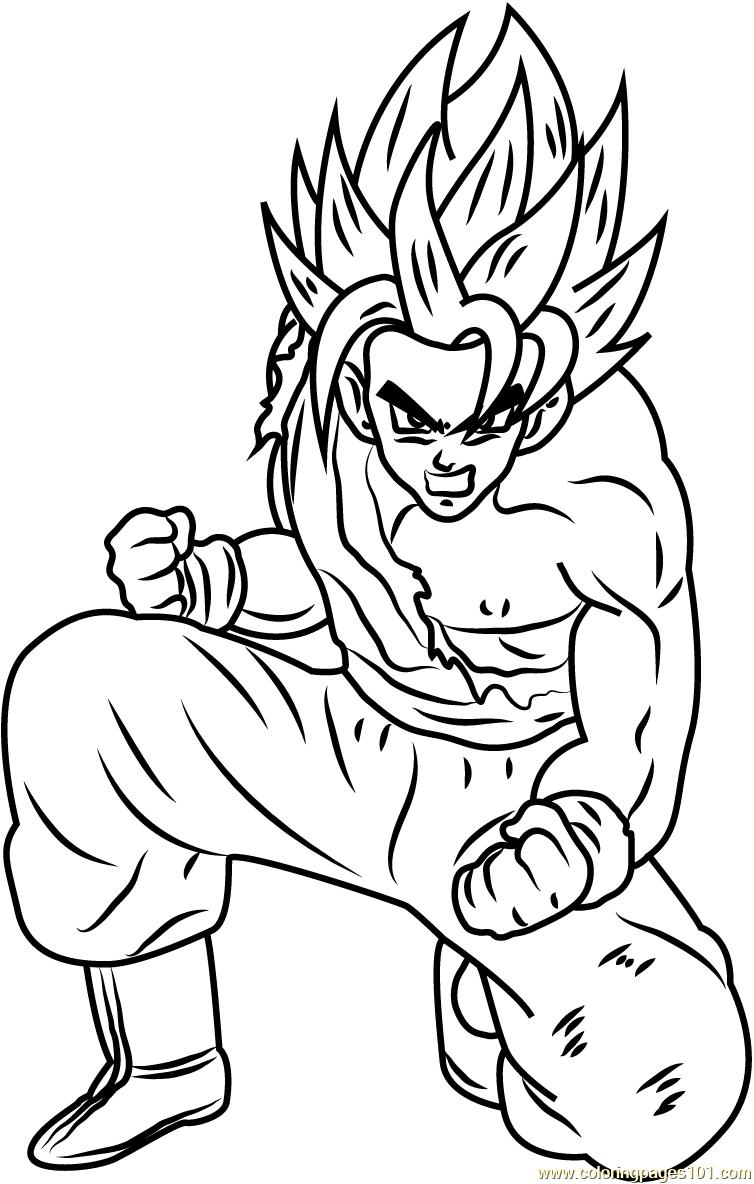 Son Goku Dragon Ball Z Coloring Page - Free Dragon Ball Z ...