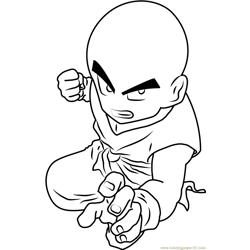Dragon Ball Z Kid Goku Free Coloring Page for Kids