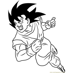 Dragon Ball Z Free Coloring Page for Kids
