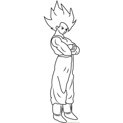 Goku Free Coloring Page for Kids
