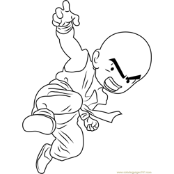 Kuririn Free Coloring Page for Kids