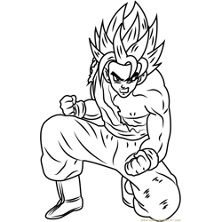 Son Goku Dragon Ball Z Free Coloring Page for Kids