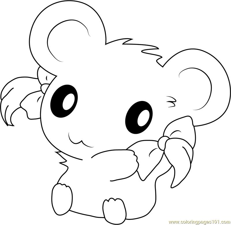 Acro Kleurplaat Cute Hamtaro Coloring Page Free Hamtaro Coloring Pages