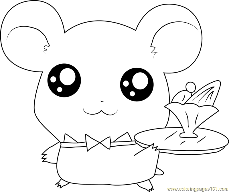 Hamtaro Coloring Page Free Hamtaro Coloring Pages
