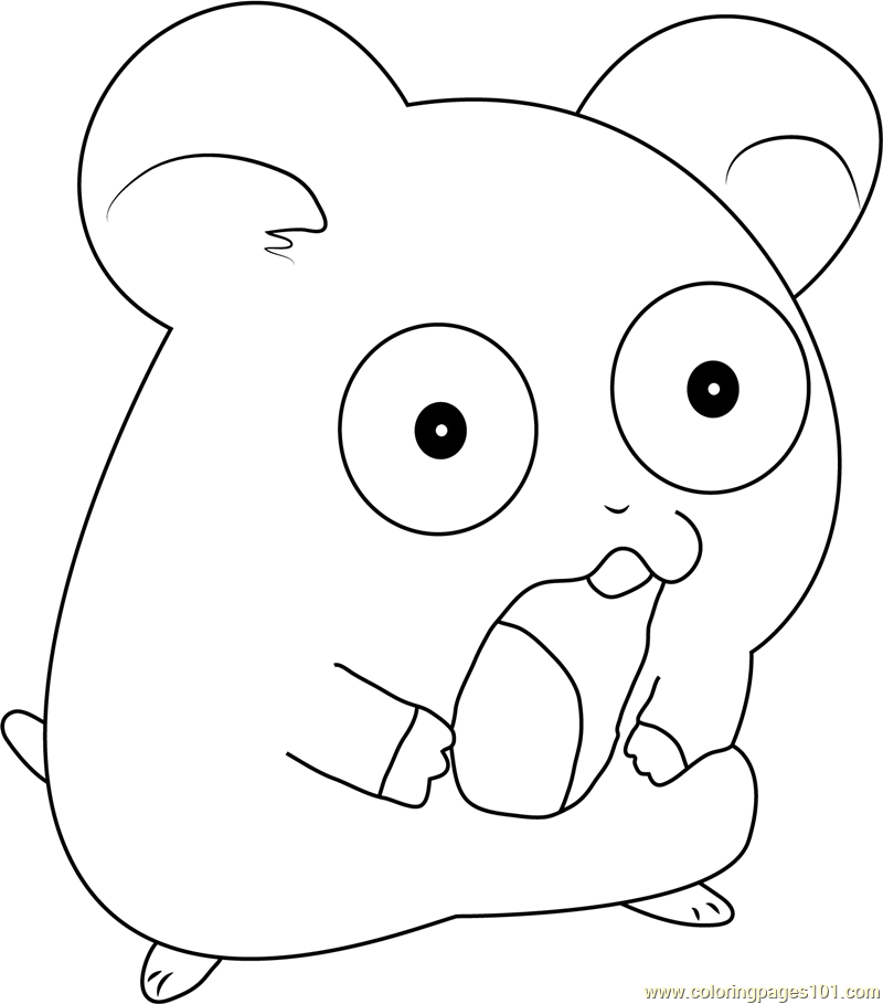 Hamtaro the hamster coloring page