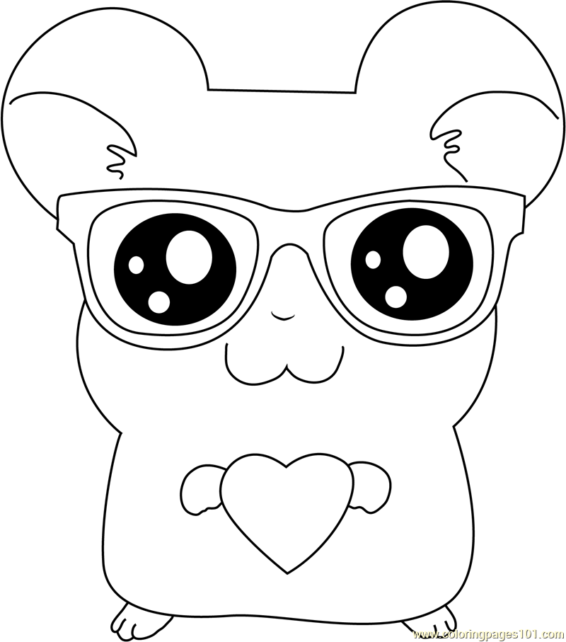 Nerd Glasses Pages Coloring Pages