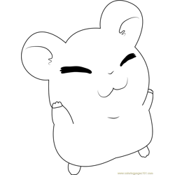 Hamtaro Looking Up Free Coloring Page for Kids