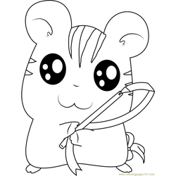 Hamtaro Sandy Free Coloring Page for Kids